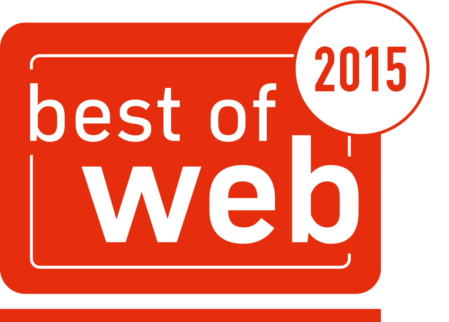 "Award ""best of web"""