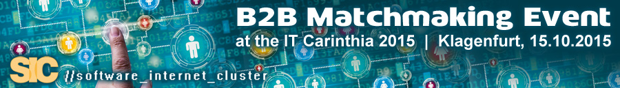 B2B Matchmaking Event at the IT Carinthia 2015 was a success