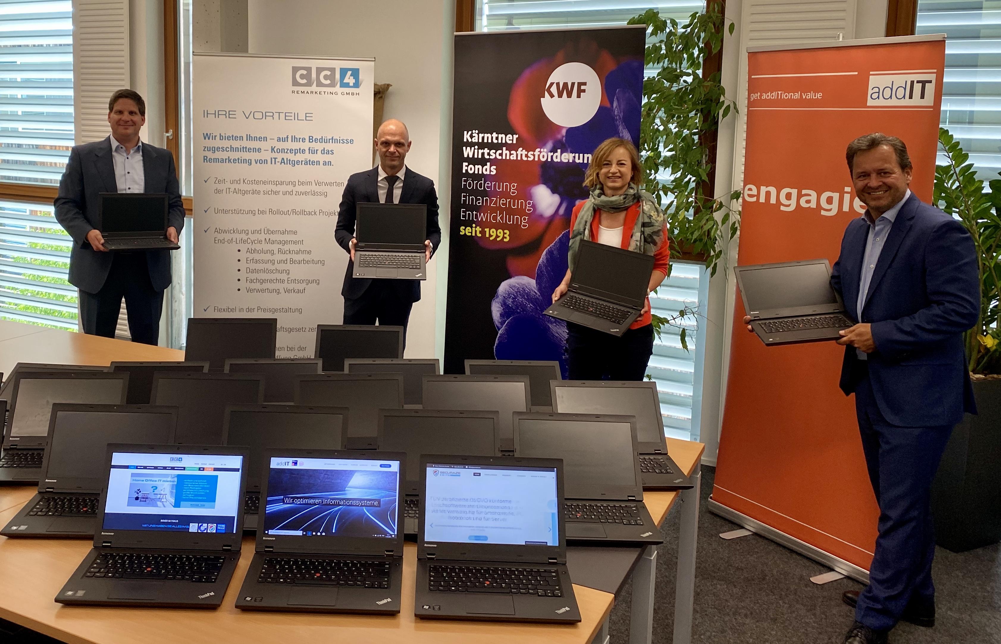 addIT stellt mit dem Remarketer CC4 fünfzig Laptops für die NMS zur Verfügung