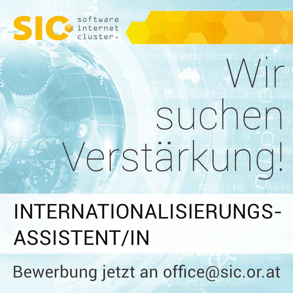 SIC sucht Internationalisierungsassistent/in